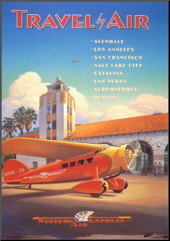 Western Air Express Mounted Print