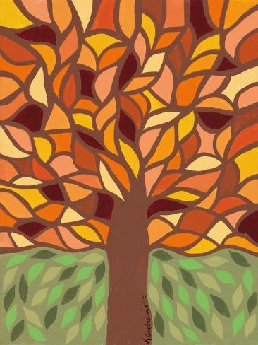 Tree of Life - Orange Stampa giclée