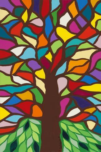 Tree of Life - Rainbow II Stampa giclée