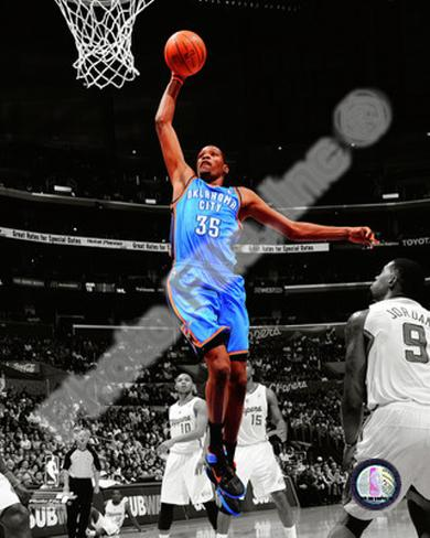 Kevin Durant 2010-11 Spotlight Action Photo