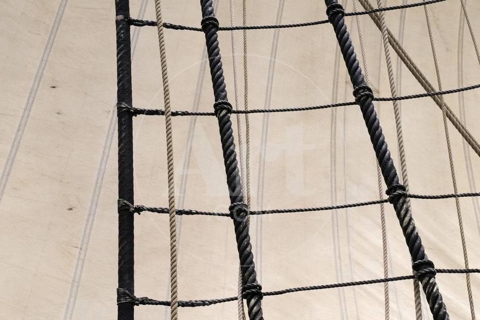 Canada, B C, Victoria  Rigging and Sails on the Hms Bounty