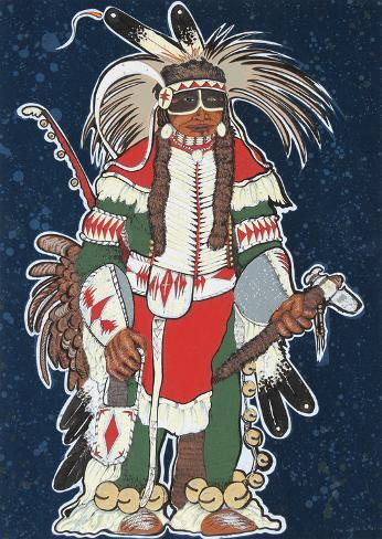 Crow Warrior Stampa da collezione