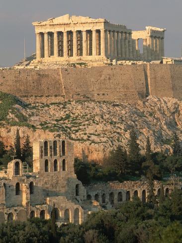 Acropolis and Parthenon, Athens Photographic Print