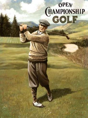 Open Golf Male Tin Sign
