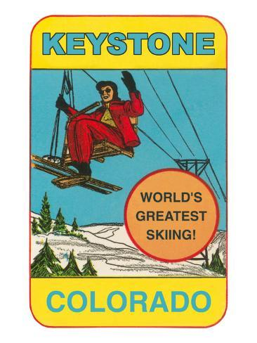 Keystone, Colorado, Label Art Print