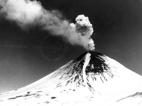 Volcano Alaid Photographic Print