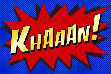 Khaaan! Pop-Art Poster