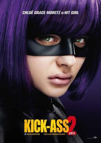 Kick-Ass 2 (Aaron Taylor-Johnson, Chloe Grace Moretz) Movie Poster マスタープリント