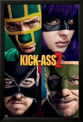 Kick Ass 2 (Cast) Lamina Framed Poster