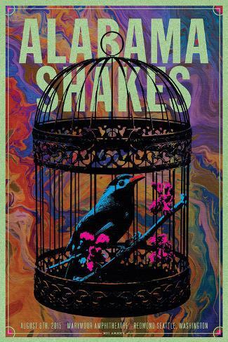 Alabama Shakes 2015 Art Print