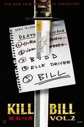 Kill Bill: Vol. 2, US Poster, 2004. © Miramax/courtesy Everett Collection Art Print