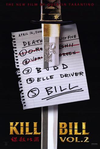 Kill Bill, Vol. 2 Impressão original