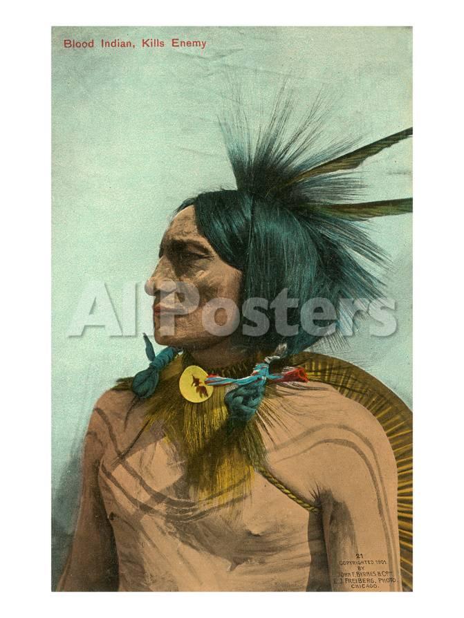 Kills Enemy, Blackfoot Indian