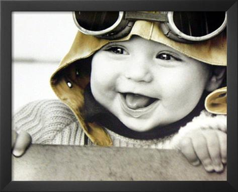 Kim Anderson (Baby Pilot) Art Poster Print Framed Art Print