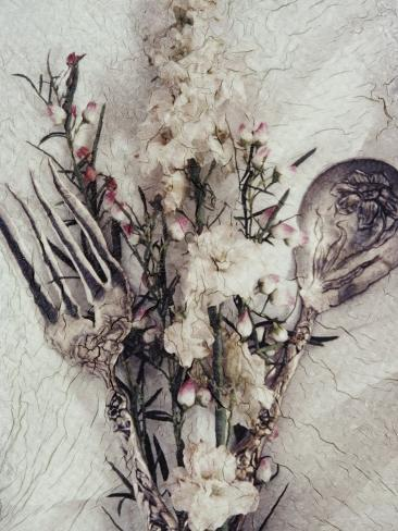 Flowers and Silverware Photographic Print