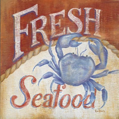 Fresh Seafood Art Print