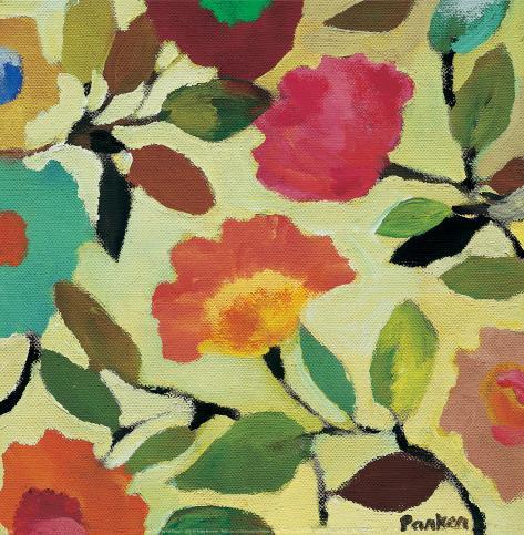 Floral Tile IV Konstprint