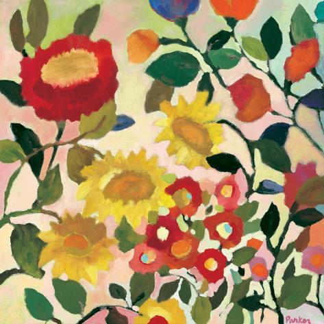 Three Sunflowers Giclee Print