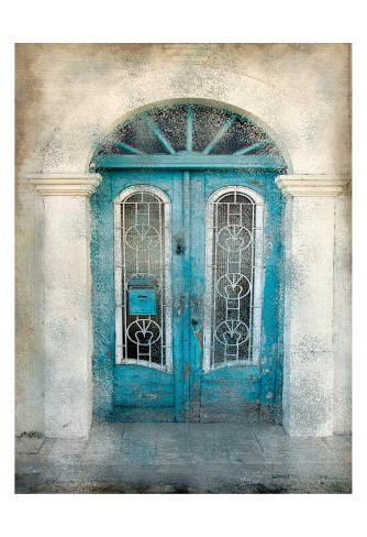 Teal Doorway Taidevedos