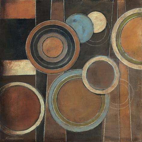 Abstract Circles I Premium Giclee Print