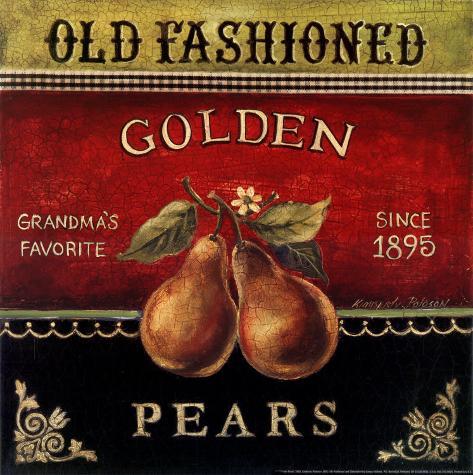 Golden Pears Art Print