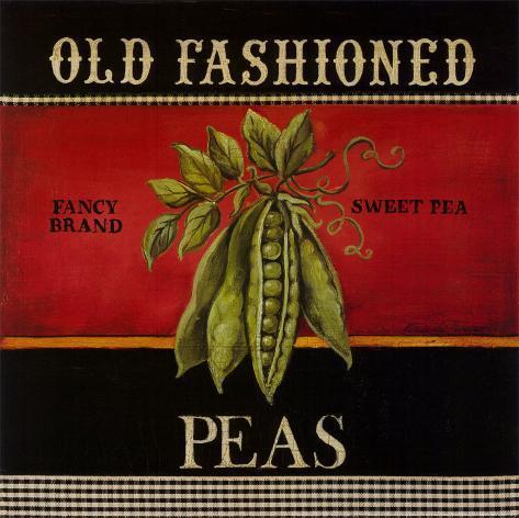 Old Fashioned Peas Art Print