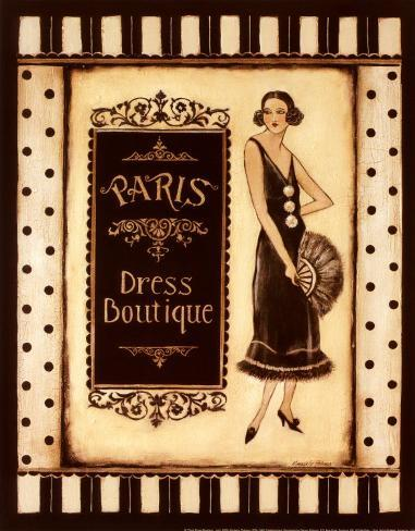Paris Dress Boutique Art Print
