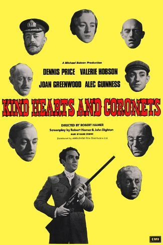 Kind Hearts and Coronets Art Print