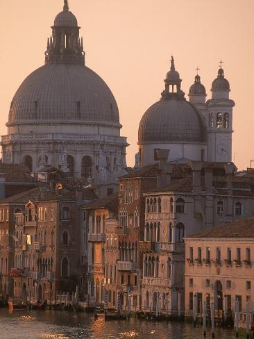 Buildings and Basilica on Grand Canal, Venice, Italy Photographic Print