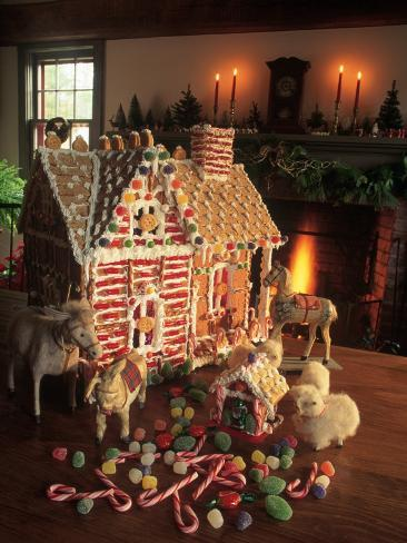 Christmas Gingerbread House Photographic Print