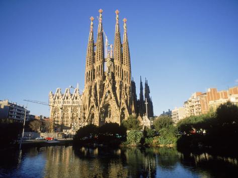 Sagrada Familia, Barcelona, Spain Photographic Print