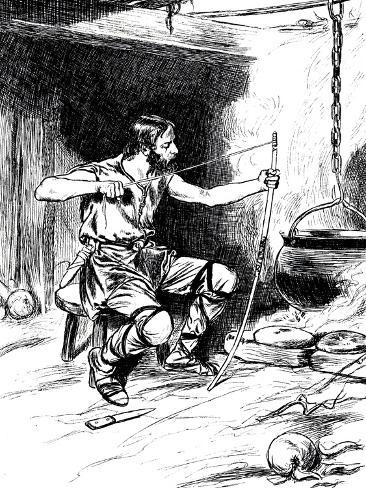 King Alfred Burning the Cakes, 878 Giclee Print