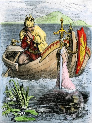 King Arthur Receiving His Magic Sword from the Lady of the Lake Giclee Print