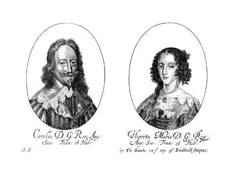 King Charles I (1600-164) and Queen Henrietta Maria (1609-166) Giclee Print