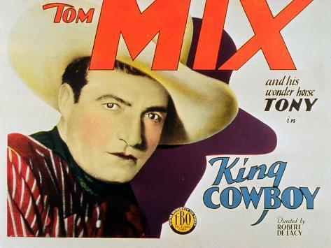 King Cowboy, 1928 Stampa artistica