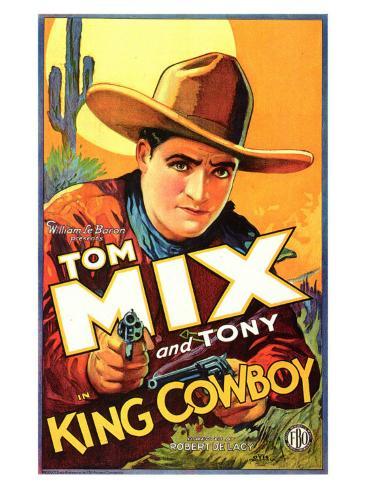 King Cowboy, 1928 Premium Giclee Print