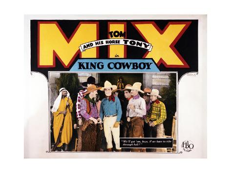 King Cowboy Art Print