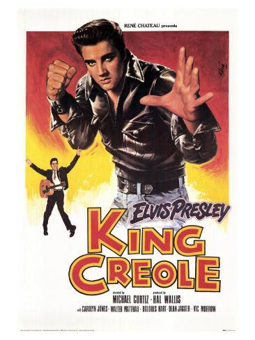 King Creole, French Movie Poster, 1958 アートプリント