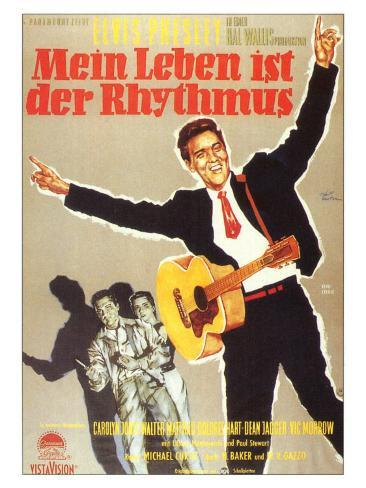 King Creole, German Movie Poster, 1958 アートプリント