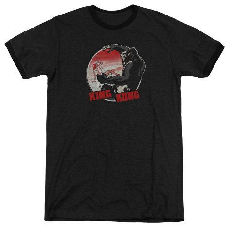King Kong- Beauty Vs. The Beast Pin Ringer T-Shirt