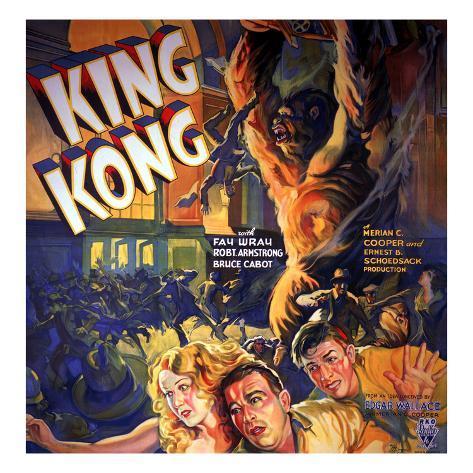 King Kong, Fay Wray, Robert Armstrong, Bruce Cabot, 1933 Photo