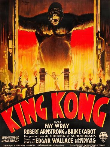King Kong, (French poster art), 1933 Konstprint