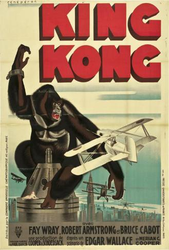 King Kong - French Style Poster
