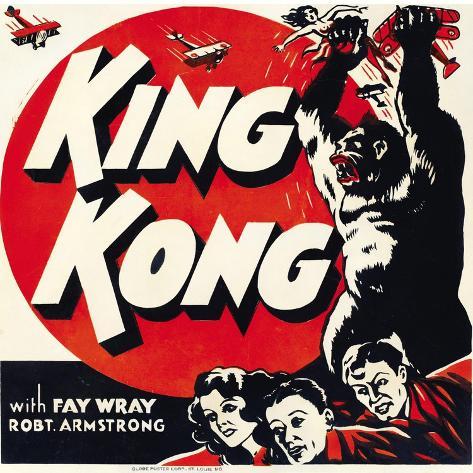 King Kong, jumbo window card, 1933 Impressão artística
