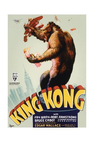 King Kong, King Kong on Poster Art, 1933 Giclee Print