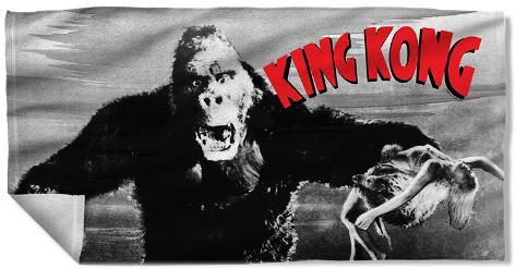King Kong - Kong And Ann Beach Towel Beach Towel