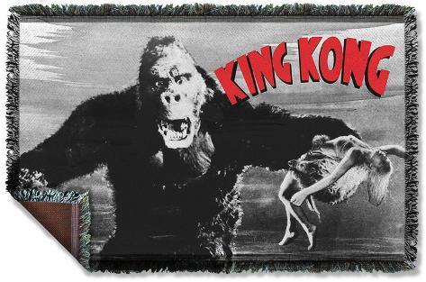 King Kong - Kong And Ann Woven Throw Throw Blanket