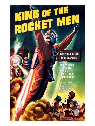 King of the Rocket Men, Tristram Coffin (In the 'Rocket Suit'), 1949 Photo