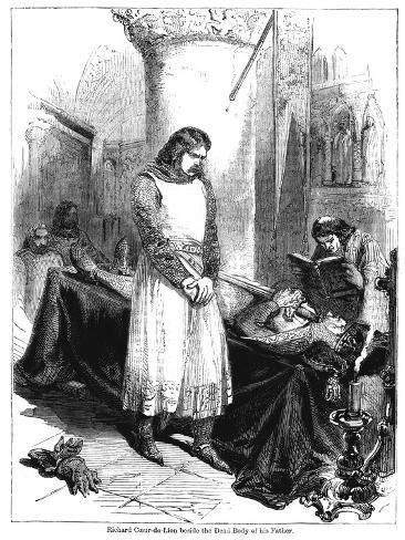 King Richard I Beside the Dead Body of His Father, King Henry II, 1189 Giclee Print