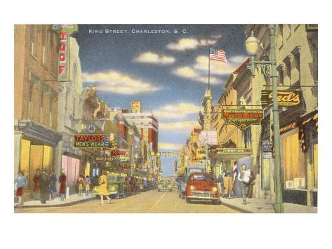 King Street, Charleston, South Carolina Art Print
